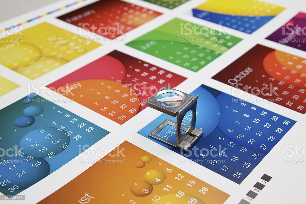 Printed Calendar... royalty-free stock photo