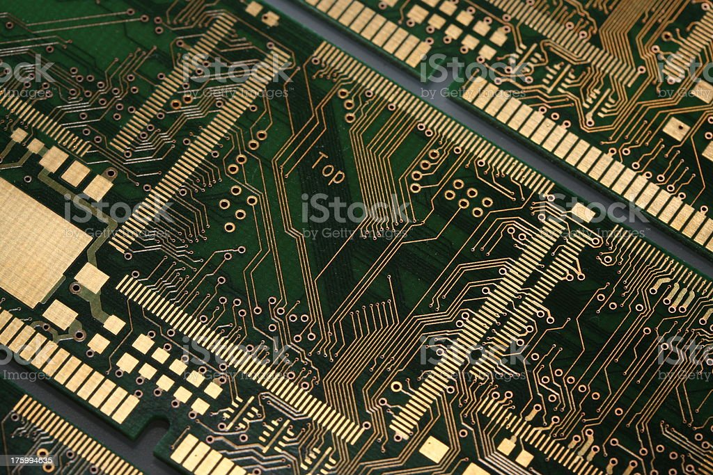 PCB Printed Circuit Board 2 stock photo
