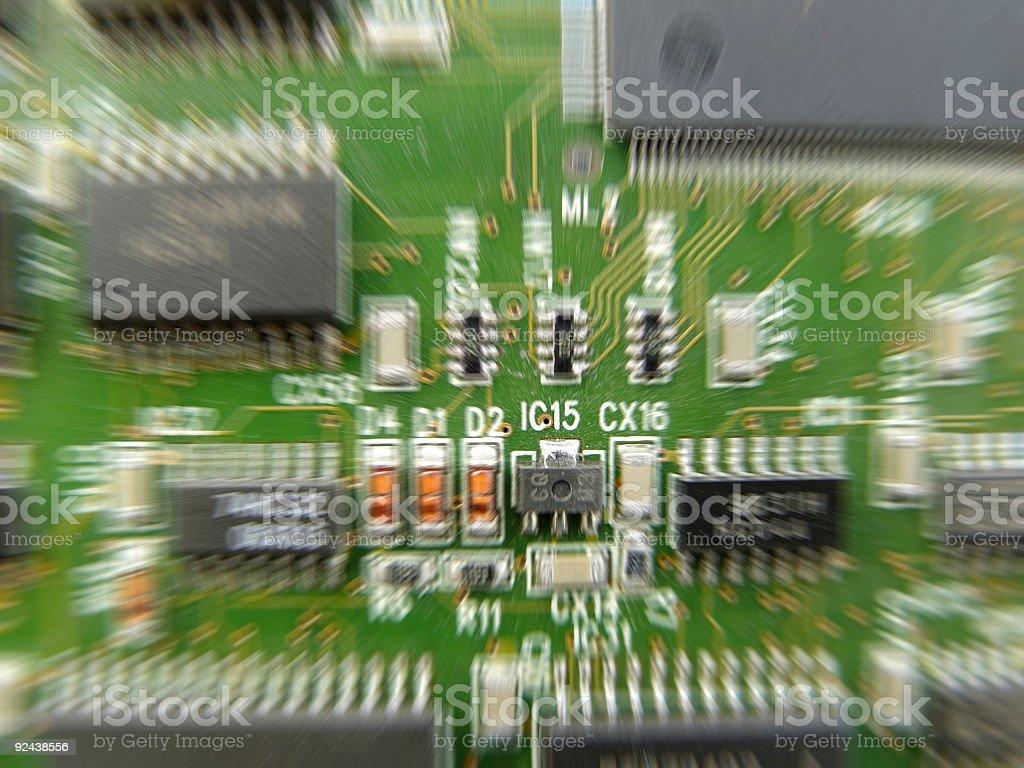 PCB Printed Circuit Board stock photo