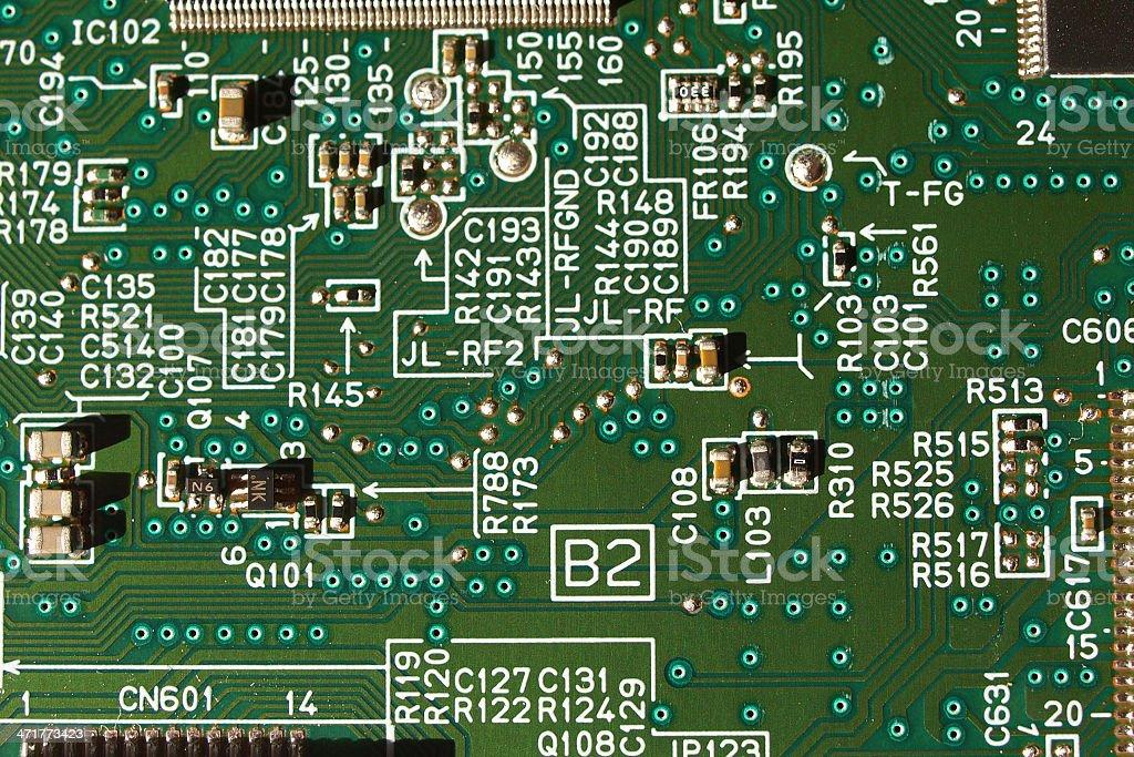 Printed circuits royalty-free stock photo