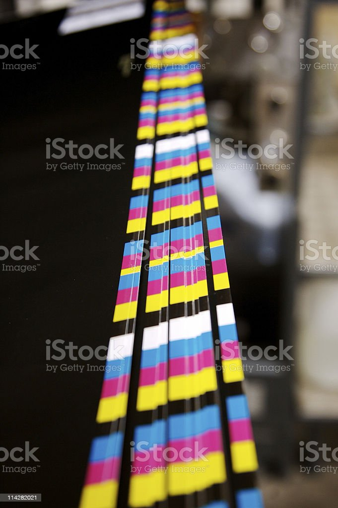 Printed Colour Bars... royalty-free stock photo