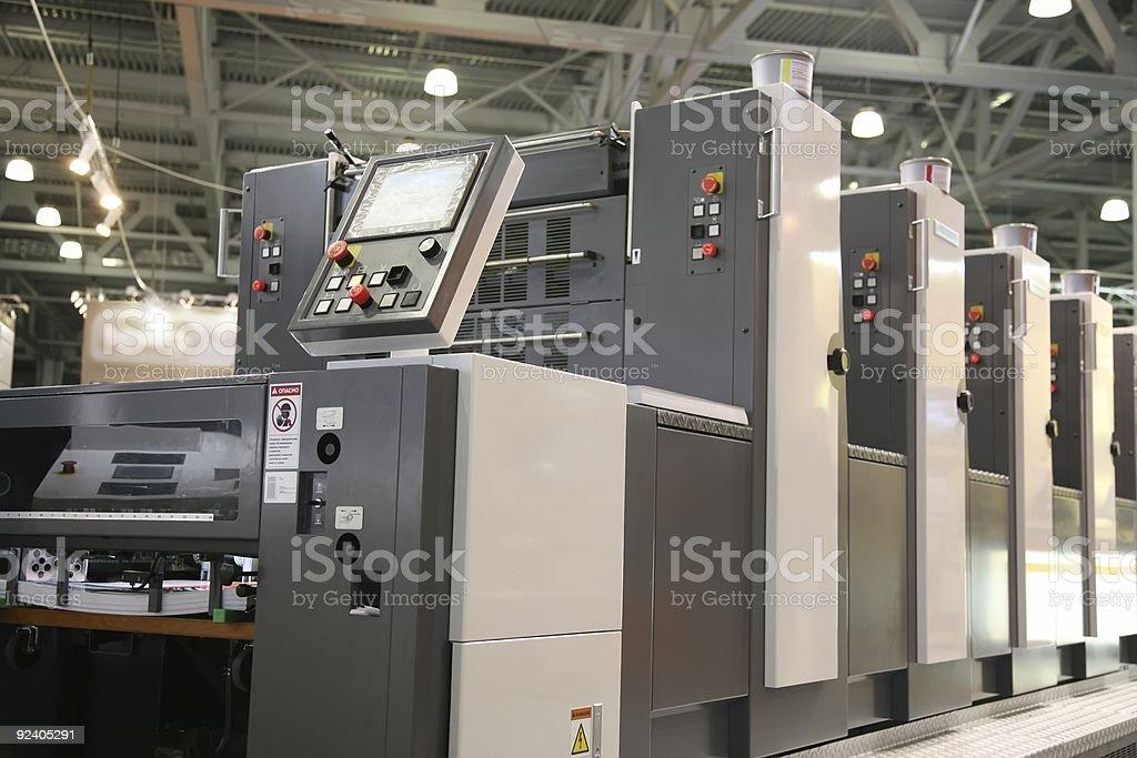 printed equipment 4 stock photo