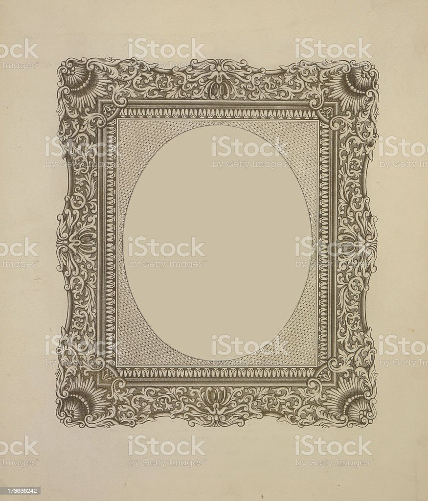 printed frame royalty-free stock photo