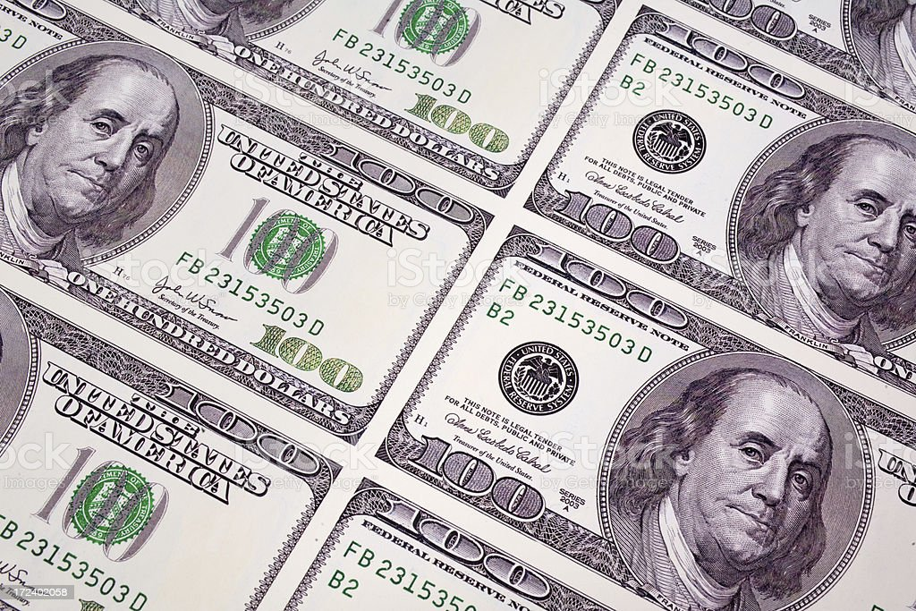 Printed Money royalty-free stock photo