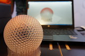 3D printed sphere with support