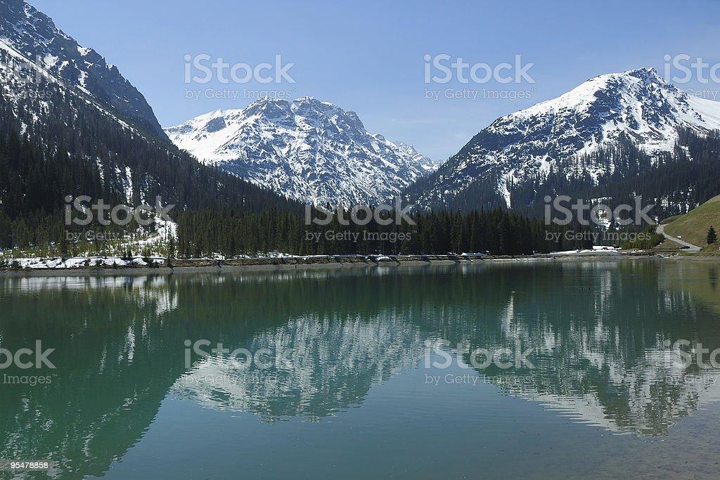 Printemps dans les Alpes stock photo