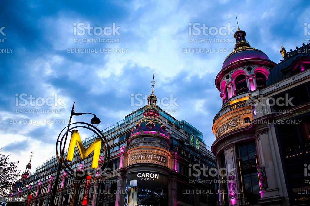 Printemps department store, Paris royalty-free stock photo