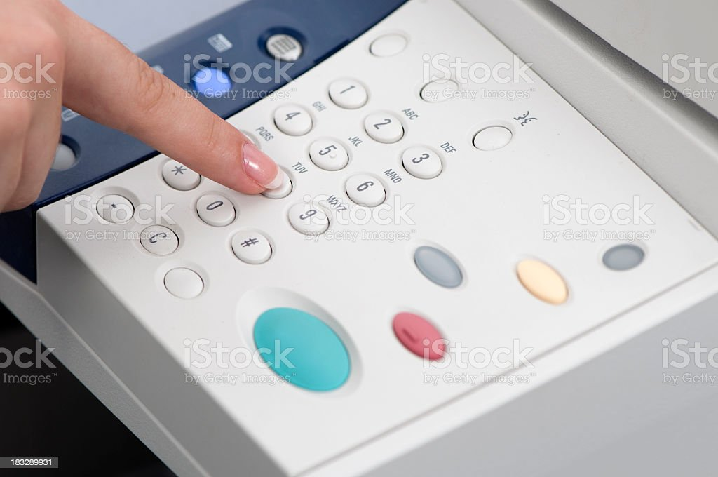 Printer control panel stock photo