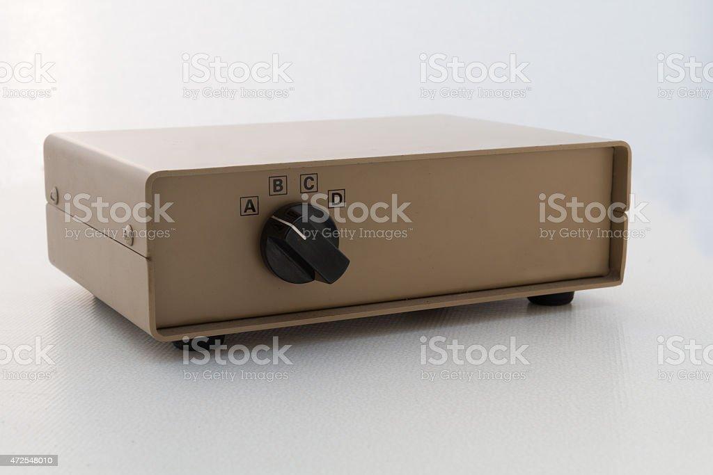 Printer data switch box (front) stock photo