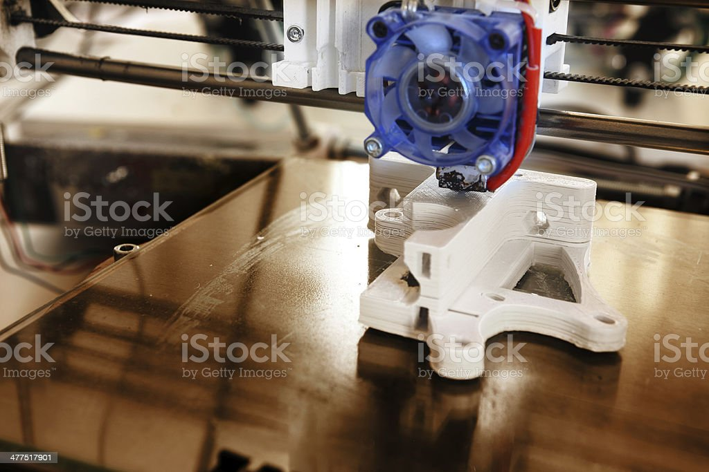 3D printer detail royalty-free stock photo