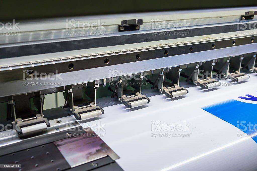 Printer ingjet device machine running motion vinyl stock photo