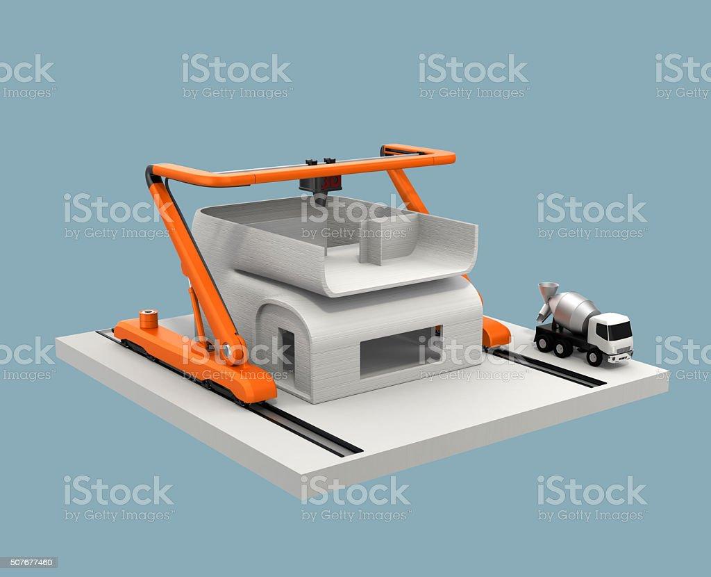 imprimante 3d maison beton. Black Bedroom Furniture Sets. Home Design Ideas