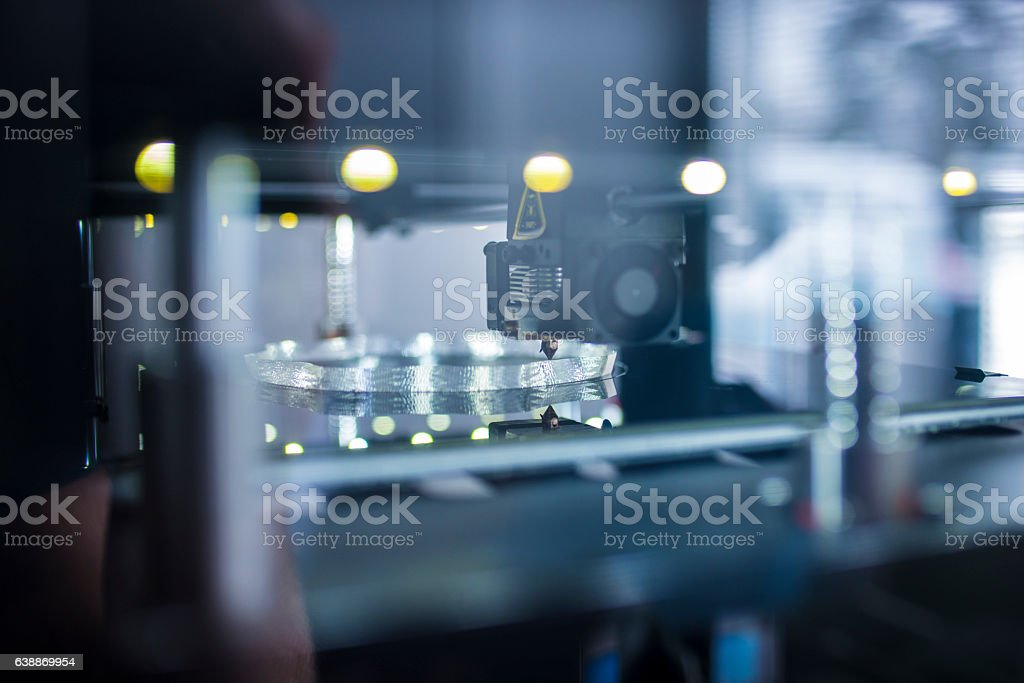 Printing 3D object stock photo