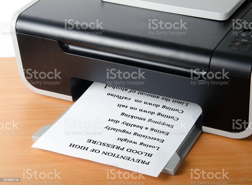 Printing advice stock photo