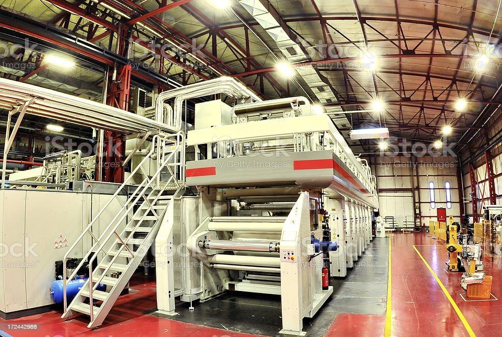 Printing and packing machine royalty-free stock photo