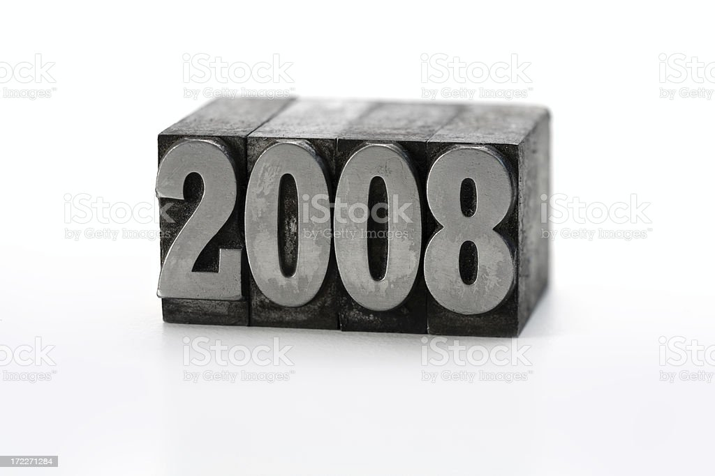 Printing Blocks 2008 royalty-free stock photo