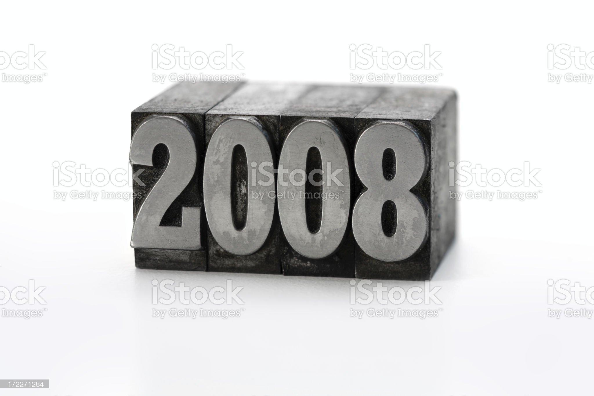 Printing Blocks 2008 royalty-free stock photo