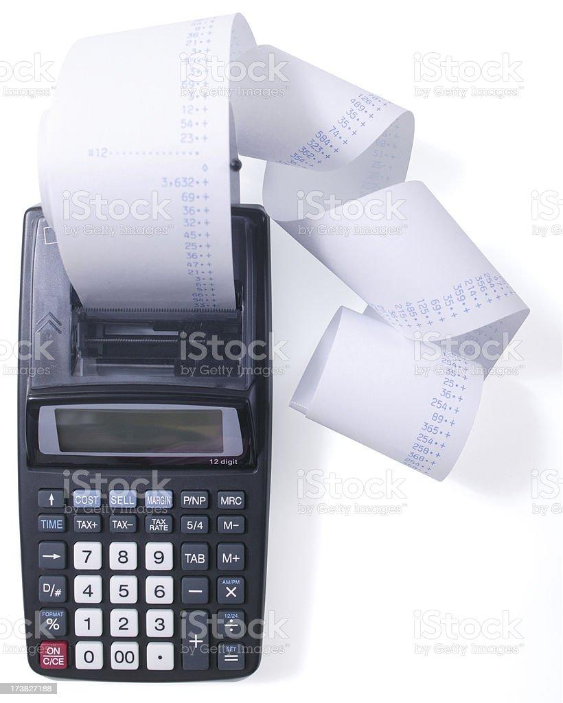 printing calculator stock photo