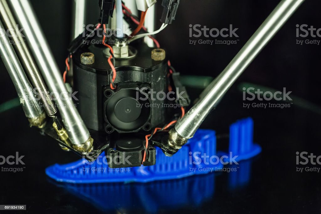 3D Printing detail stock photo
