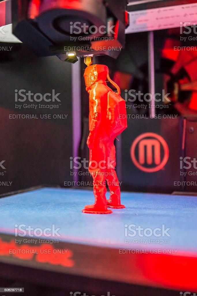 3D Printing in Action stock photo