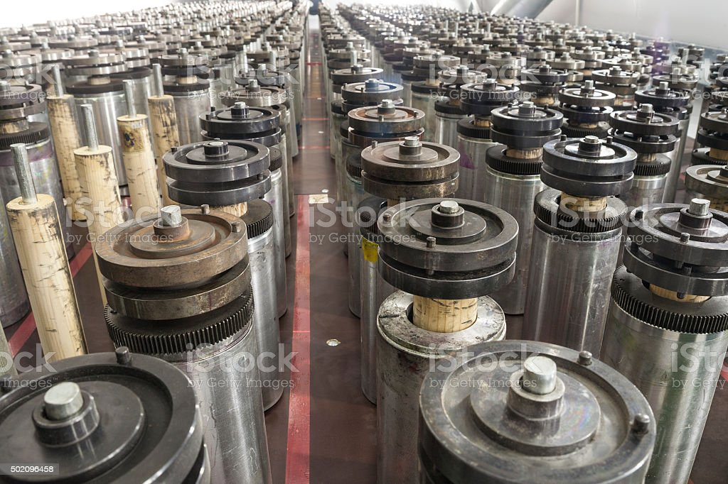 Printing Industry Rollers stock photo