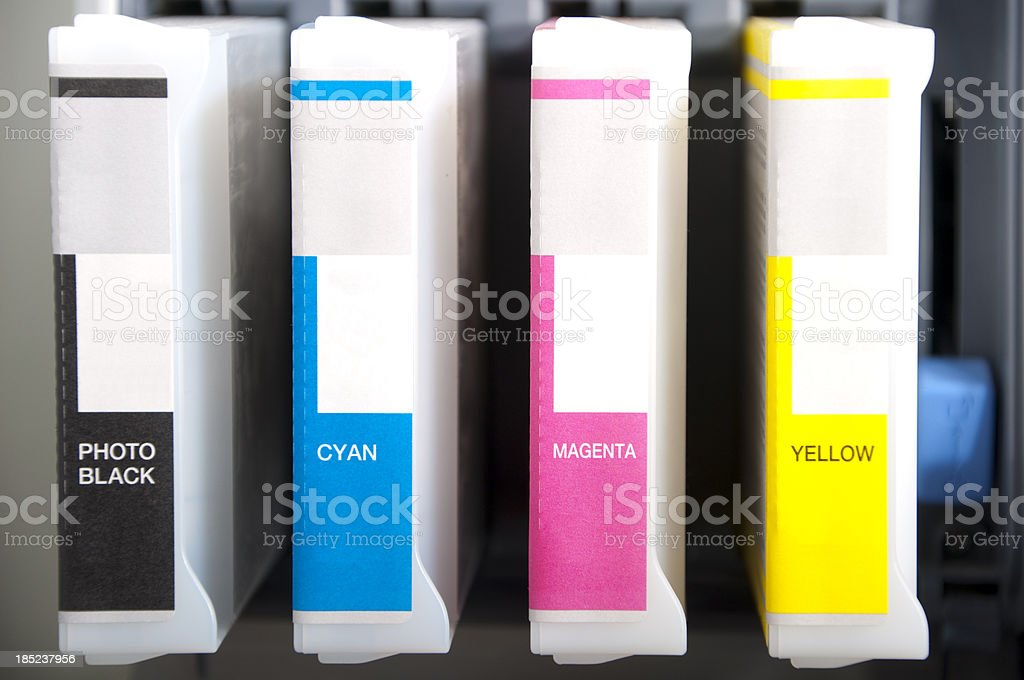 Printing ink stock photo