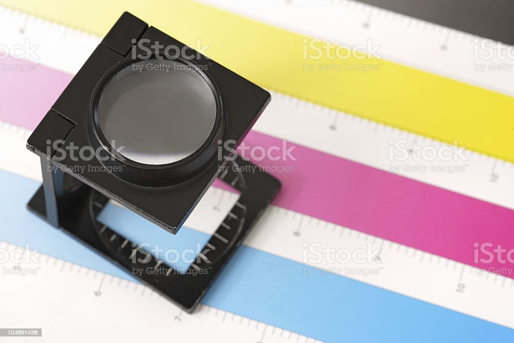 Printing inspection royalty-free stock photo