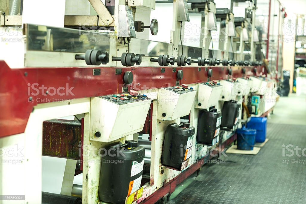 Printing at high speed on offset machine. Label, Rolled Up, Printing...