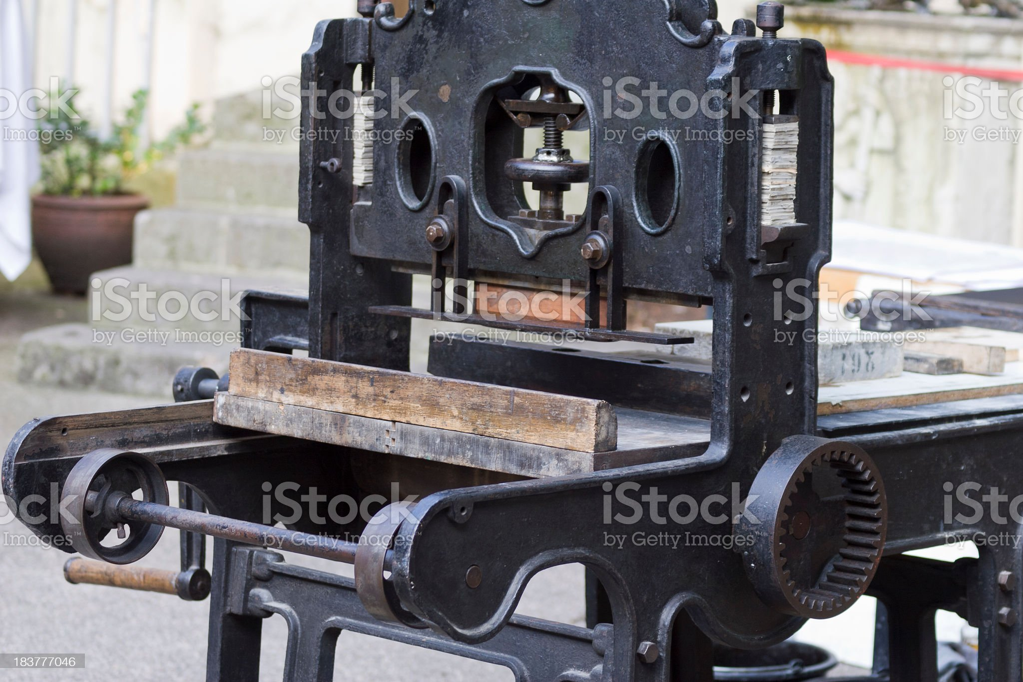 Printing Machine for Lithography royalty-free stock photo
