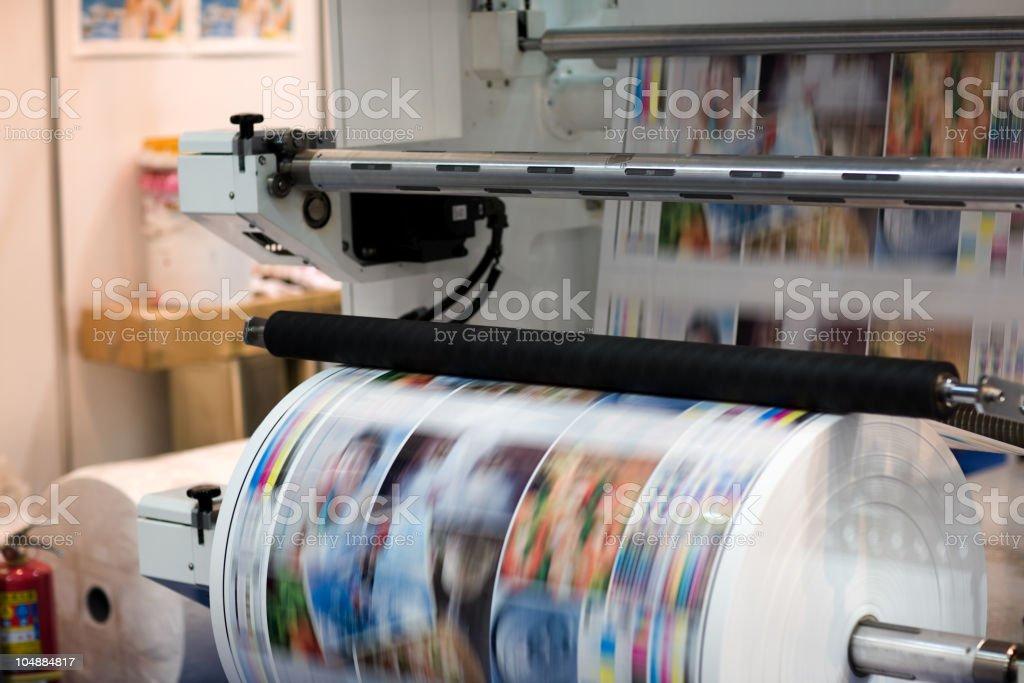 Printing machine stock photo