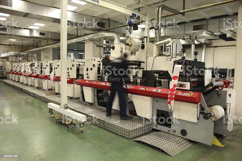 Printing machine royalty-free stock photo