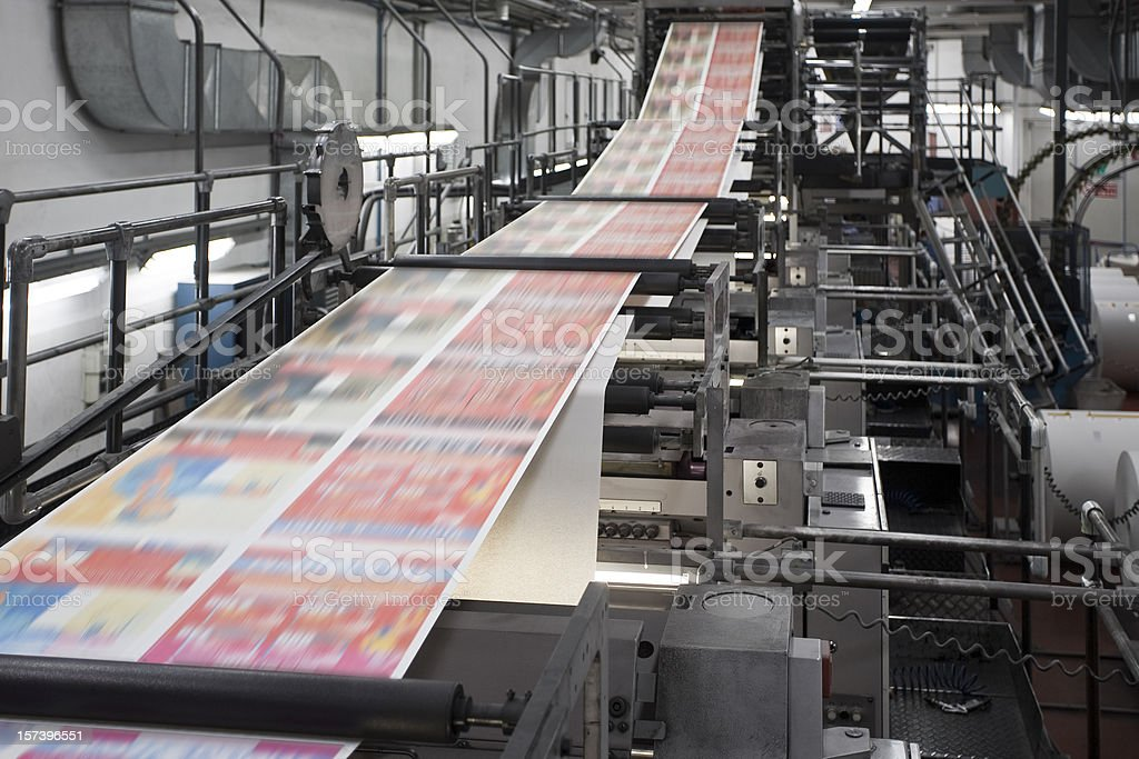 Printing newspapers stock photo