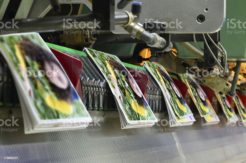 Printing offset conveying plant stock photo