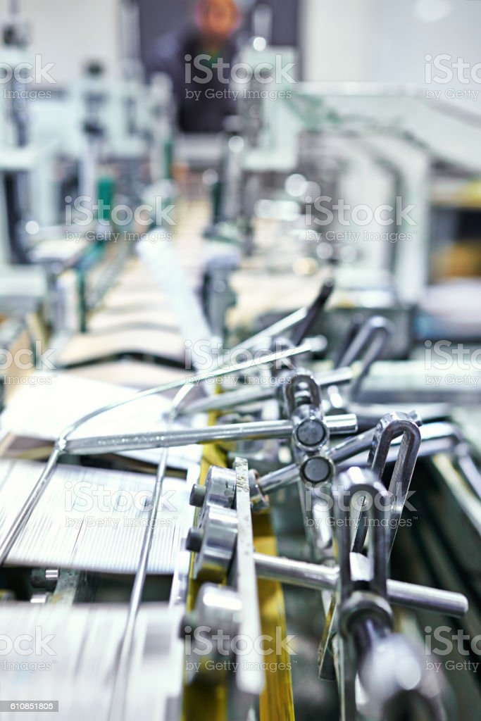 Printing on the presses stock photo