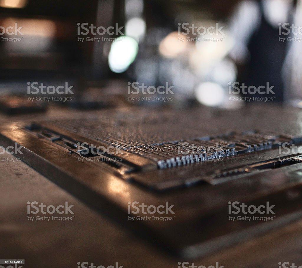Printing plate stock photo
