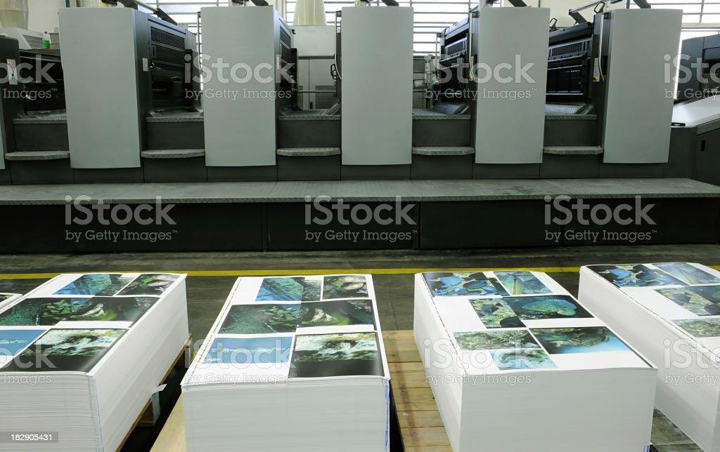 Printing press company printing papers royalty-free stock photo