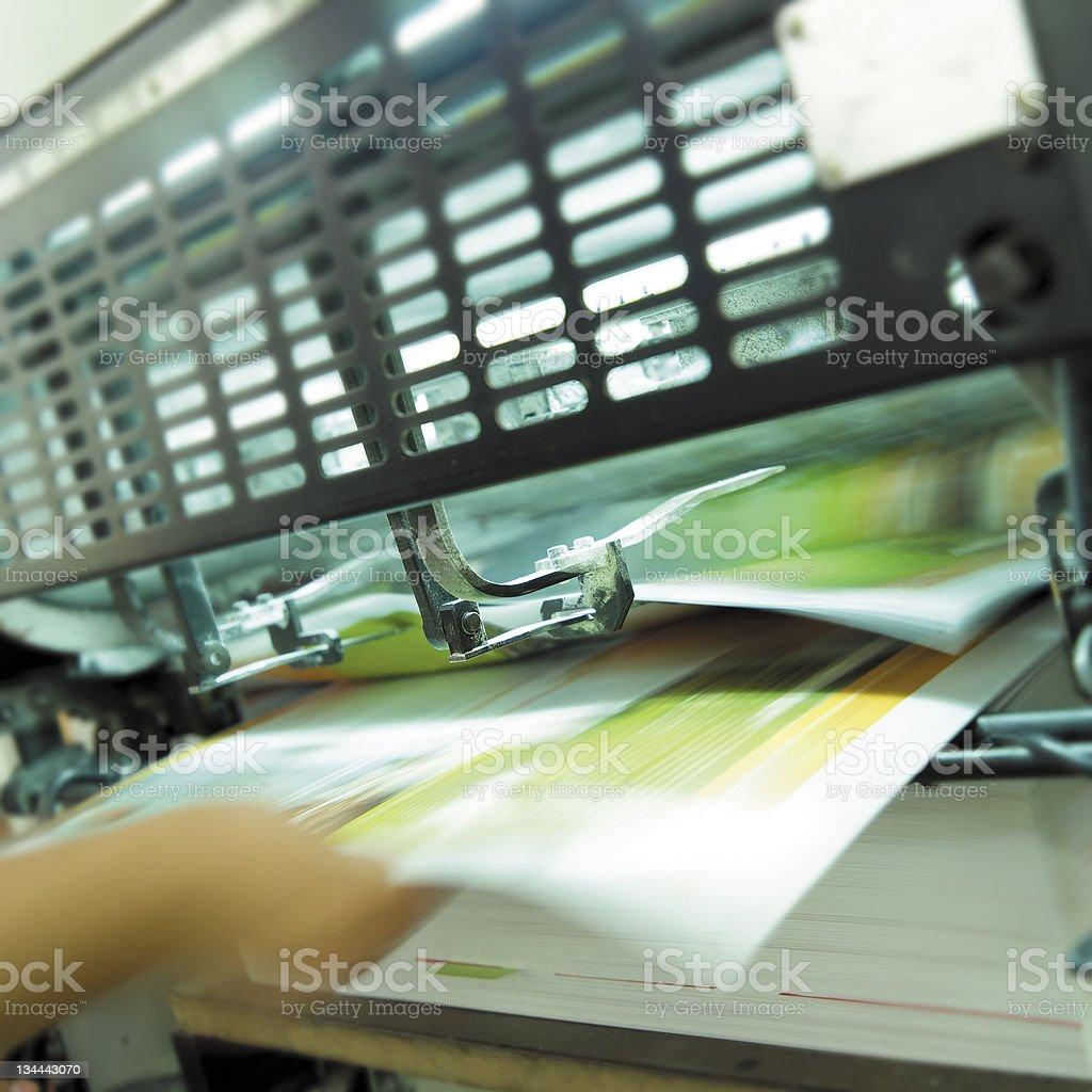 Printing press stock photo