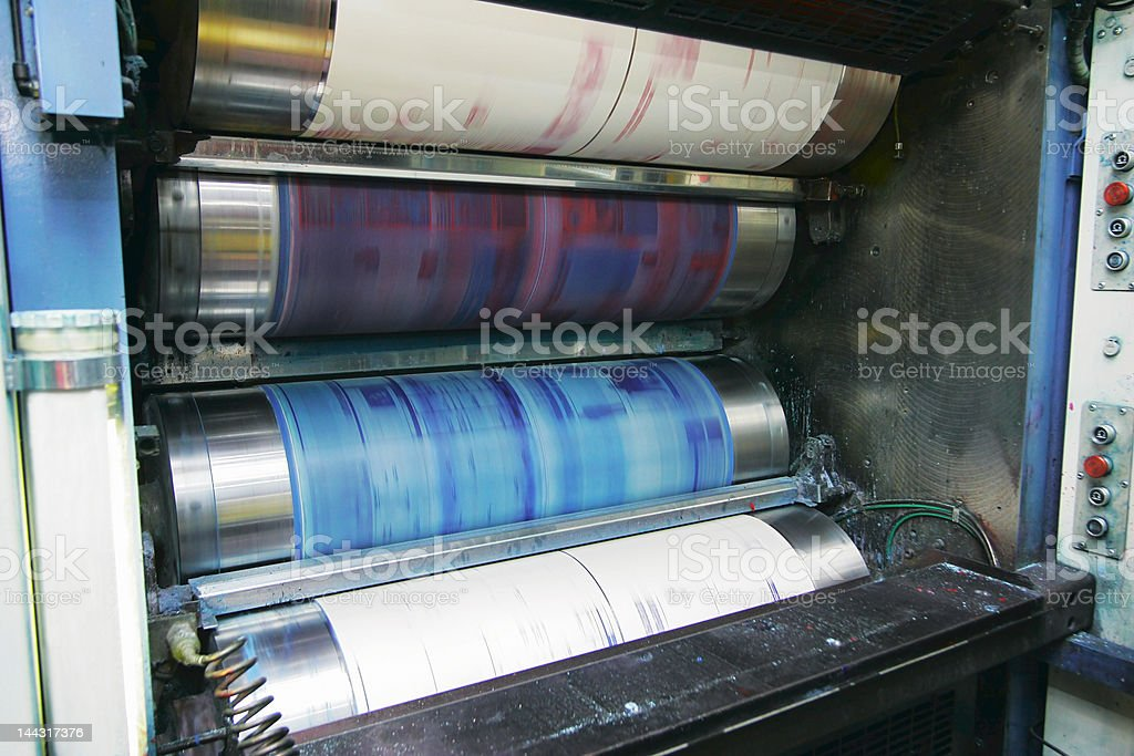printing press stock photo
