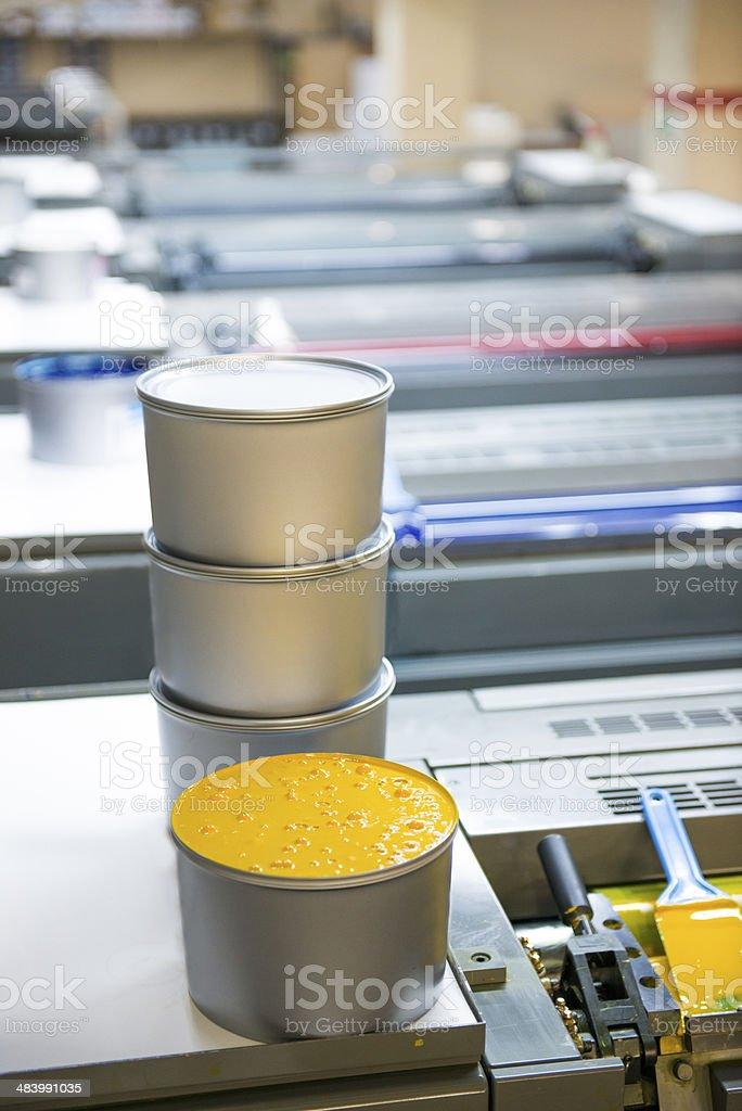 printing press printing machine stock photo