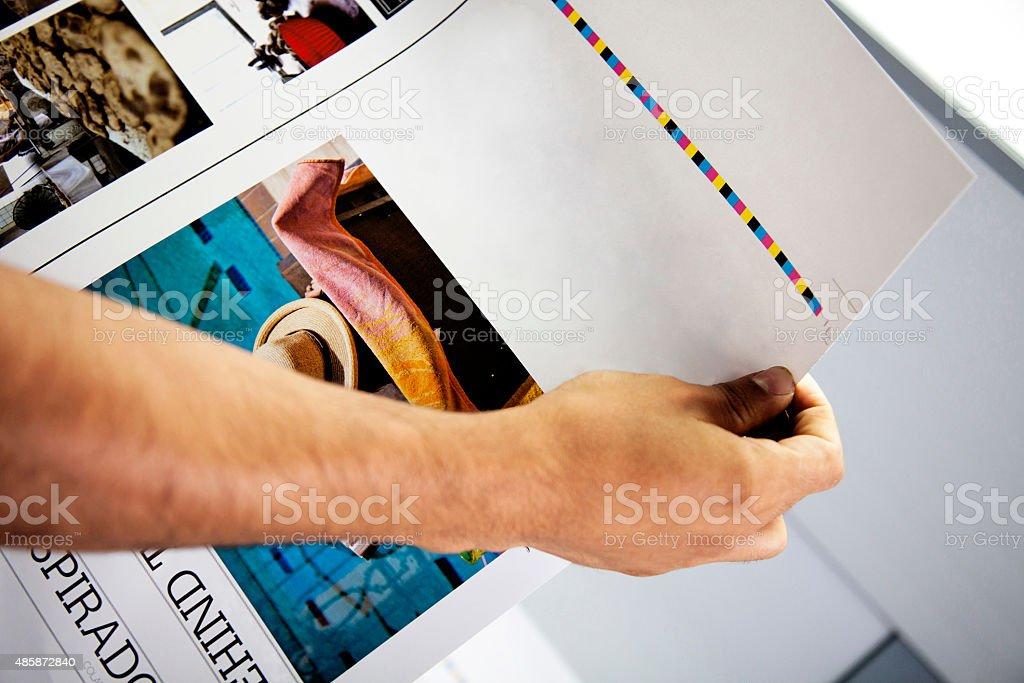 Printing processes stock photo