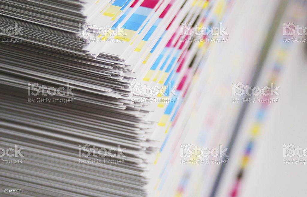 CMYK printing sheet color bars stock photo