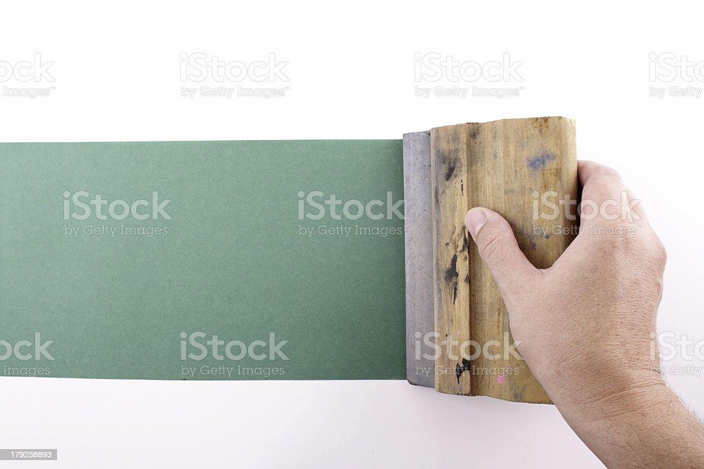 Printmaking royalty-free stock photo