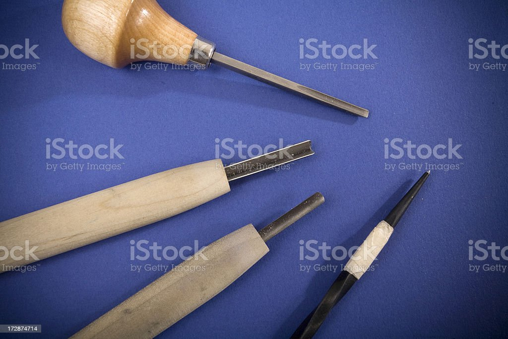Printmaking tools royalty-free stock photo