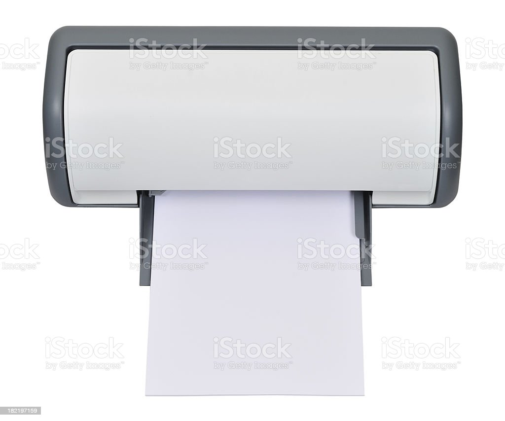 Printout royalty-free stock photo