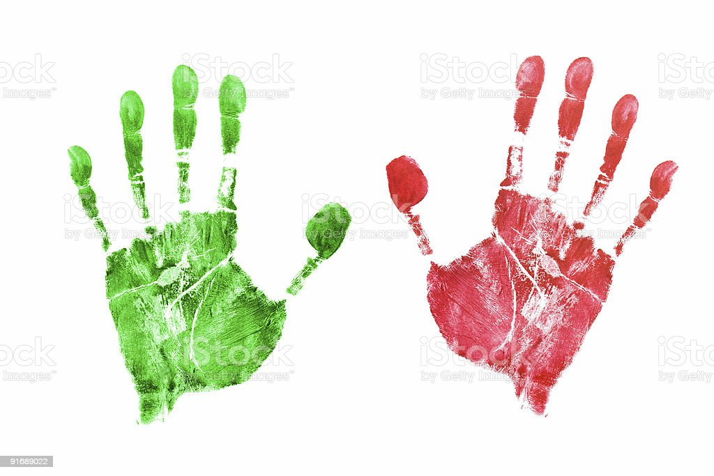 Prints of hands royalty-free stock photo