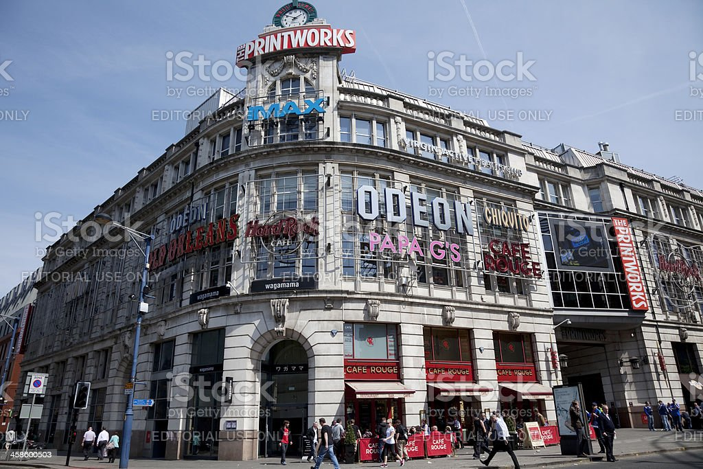Printworks building, Manchester royalty-free stock photo