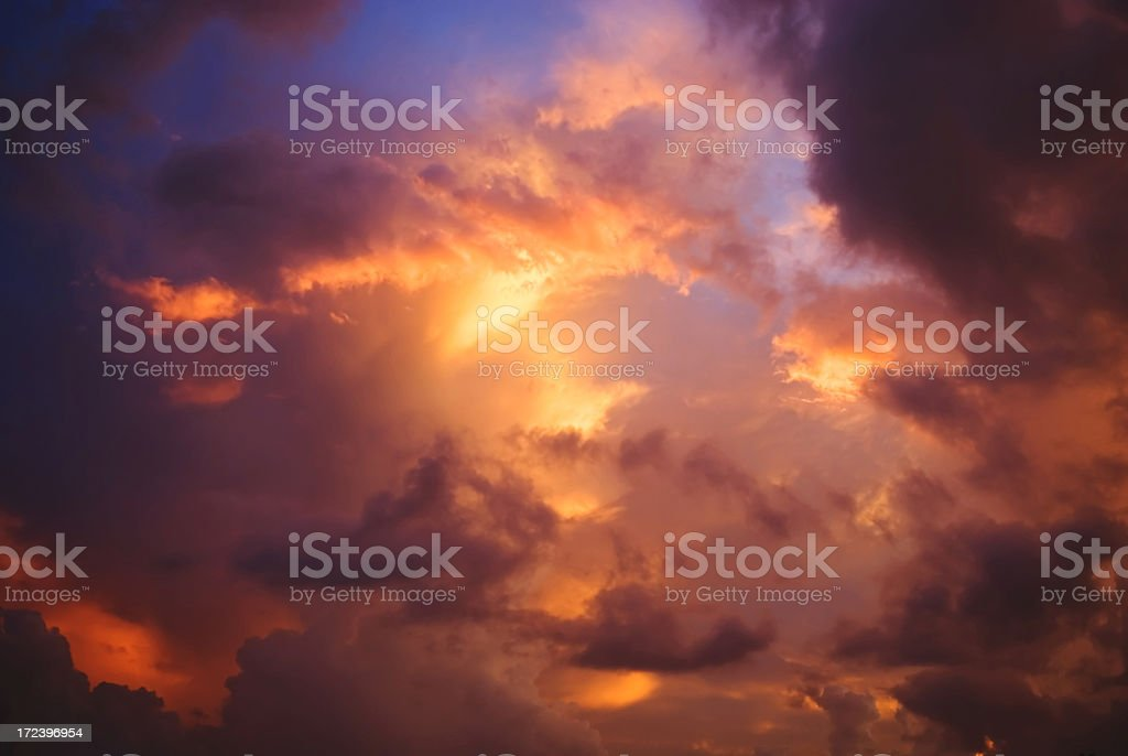 Prior Tropical Storm at Sunset royalty-free stock photo