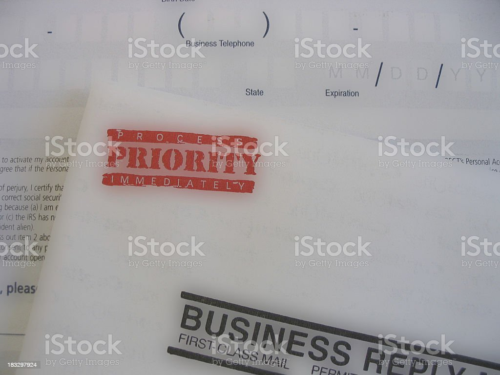 Priority Paperwork royalty-free stock photo