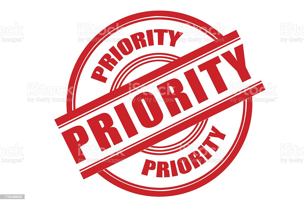 Priority royalty-free stock photo