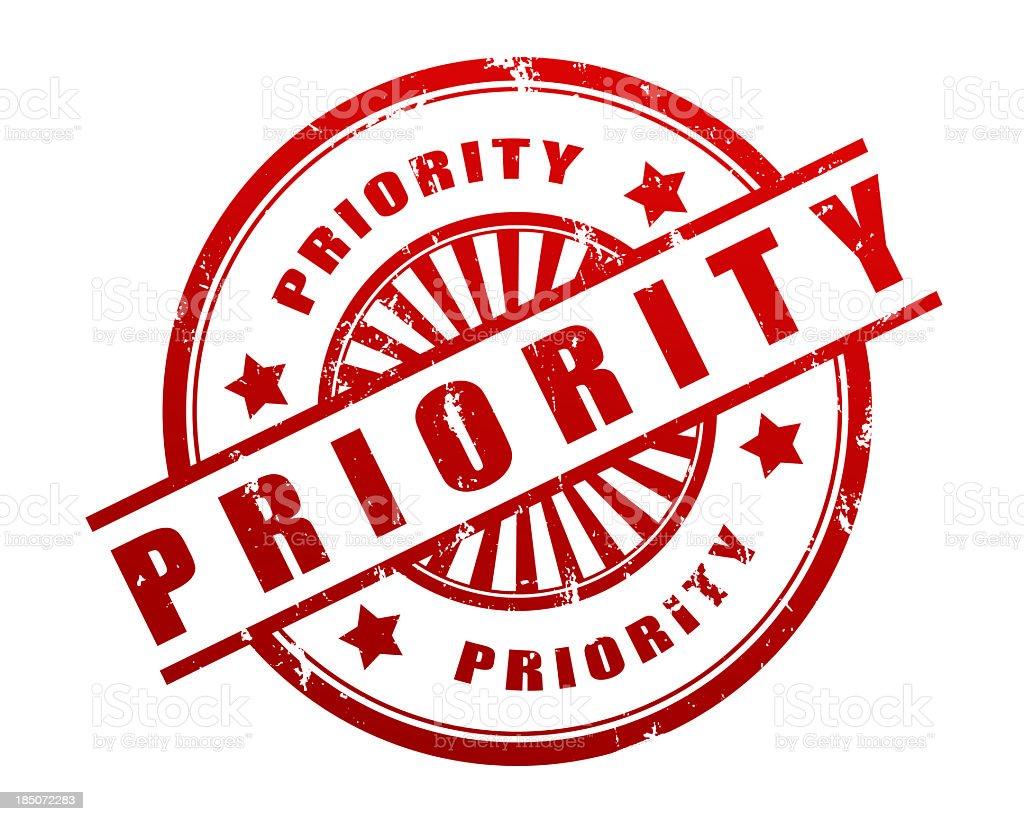 Priority Stamp stock photo